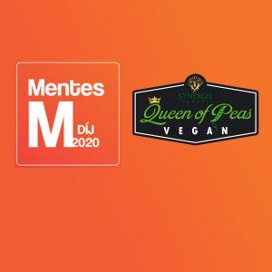Mentes M díj logo és Queen of Peas logo narancssárga háttéren